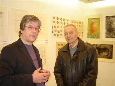 Barry and Roumen Skorchev in the exhibition