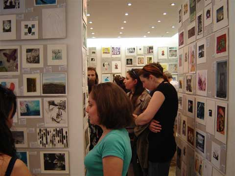 miniprint 2008 opening reception, visiting artists, working dinners
